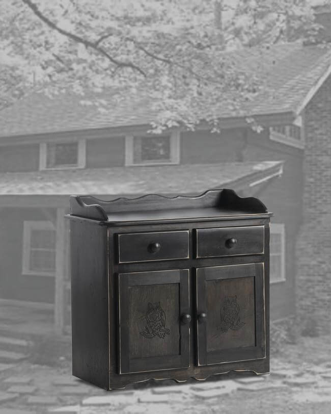 32 Dry Sink-Owl Black Distressed