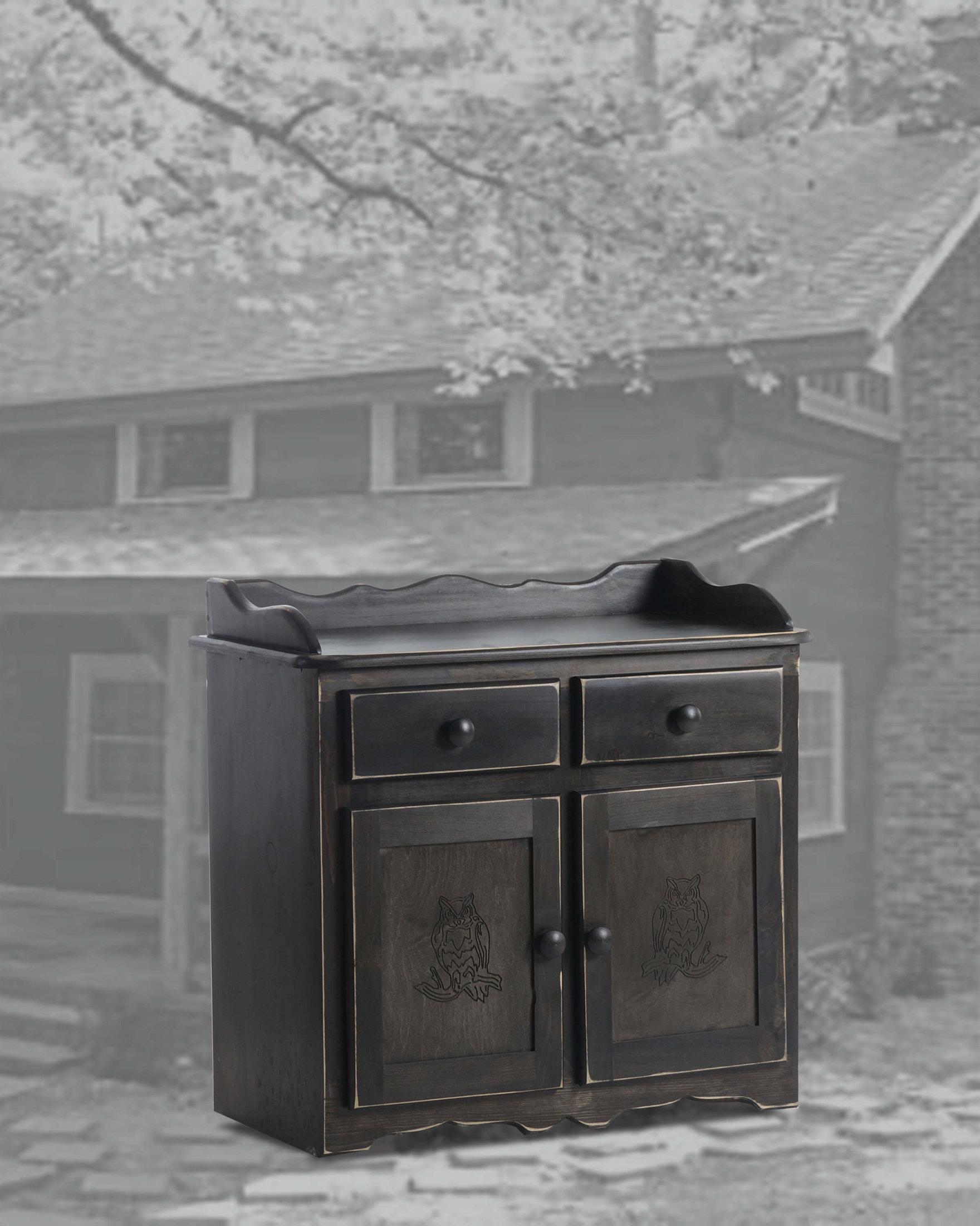 32 Dry Sink-Owl Black Distressed