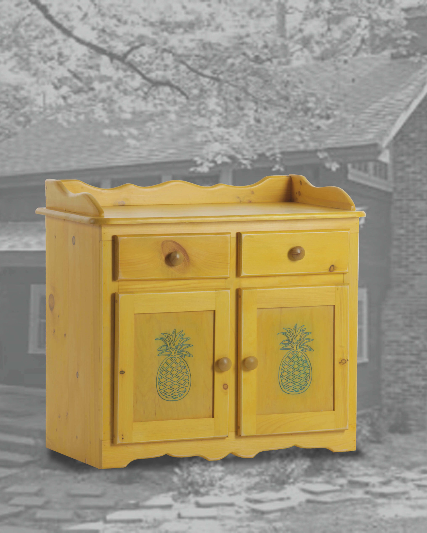 32 Dry Sink-pineapples