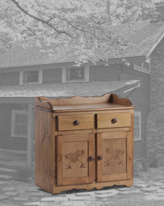 32 Dry Sink Duck In Golder Oak