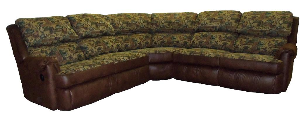 4000 Sectional Mahogany With Cabin Fever Low