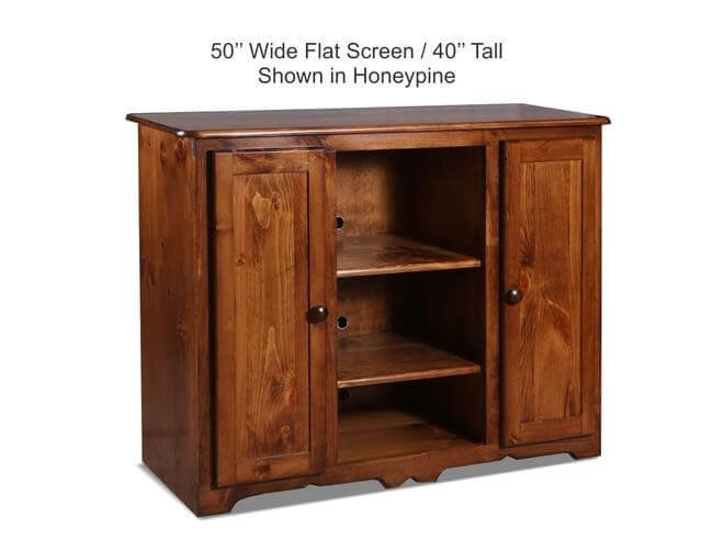 50 Flatscreen 40 Tall Shown In Honey Pine JPEG