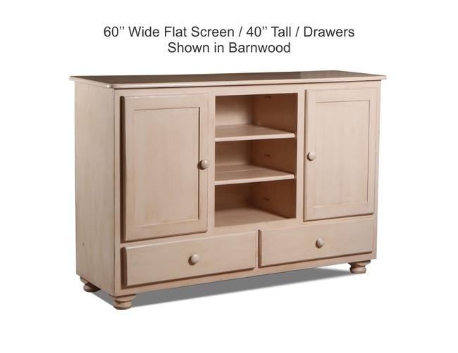 60 Flatscreen 40 Tall Drawer Shown In Barnwood JPEG