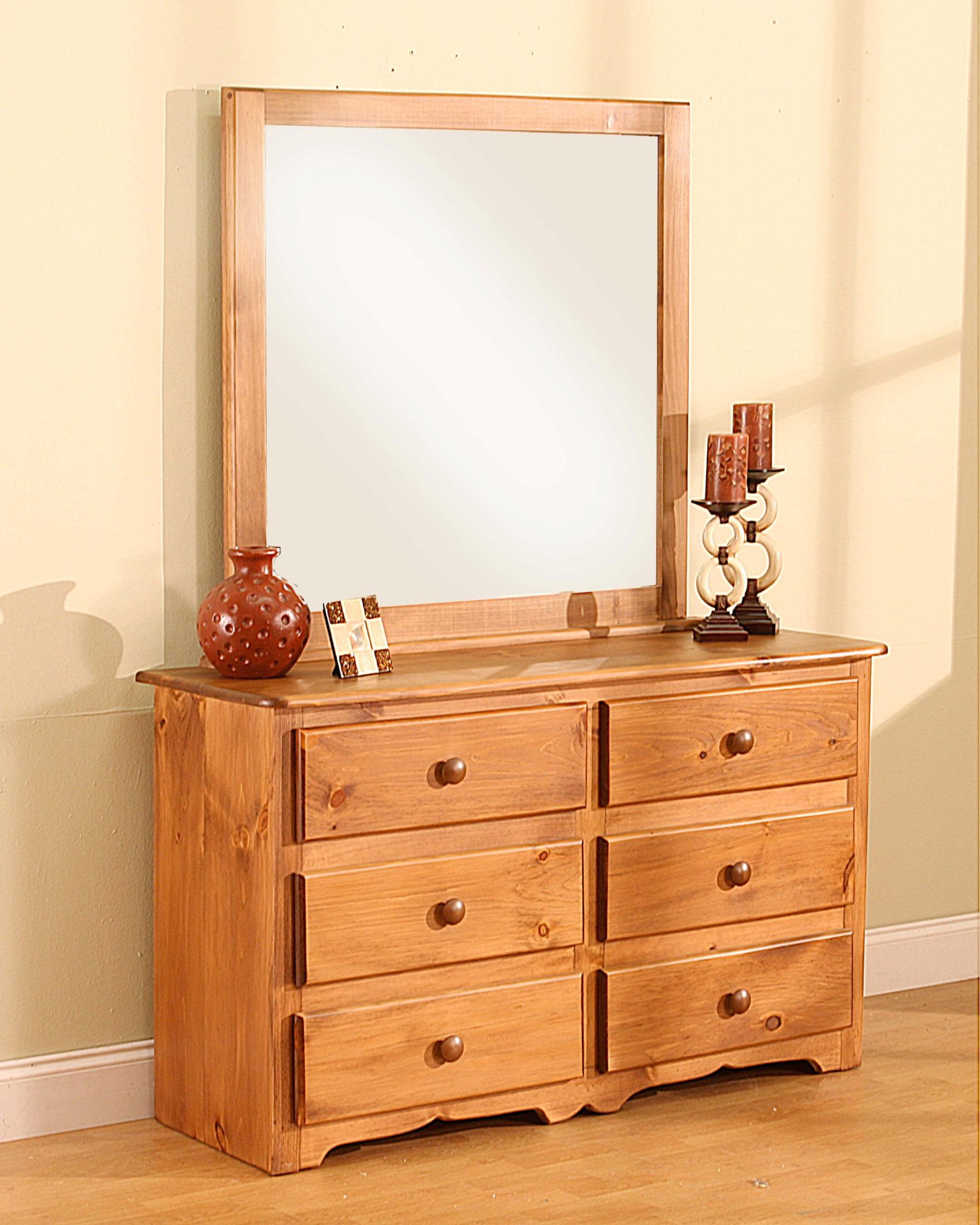 6 Drawer Dresser With Landscape Mirror CS