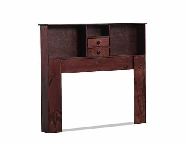 700 QUEEN BKCASE HEADBOARD WITH 2-DRAWERS IN ROSEWOOD
