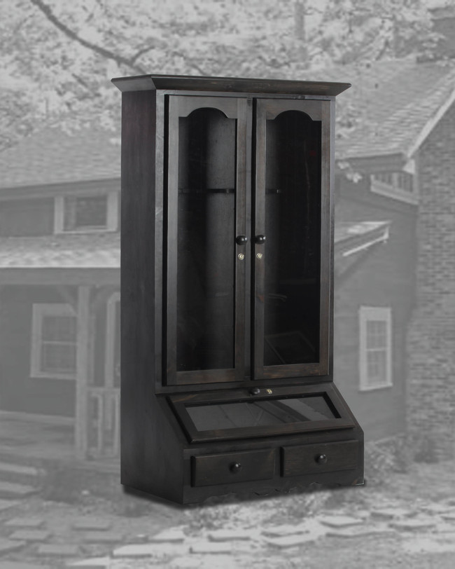 8 Gun Cabinet Black Wash