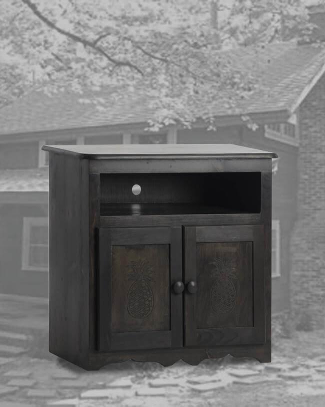 Black Wash TV Stand