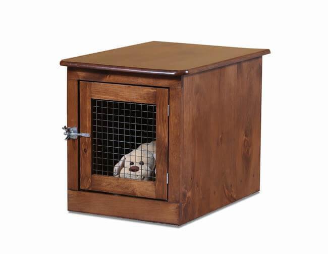 Dog Box Shown In Honey Pine