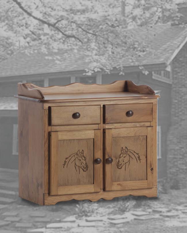 Dry Sink In GOlden Oak