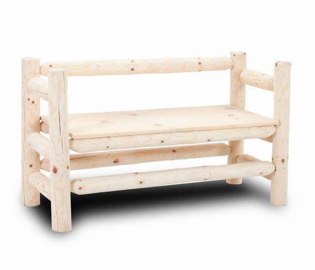 Log Boot Bench