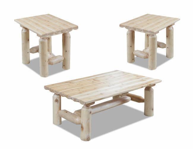 Log Coffee & End Tables