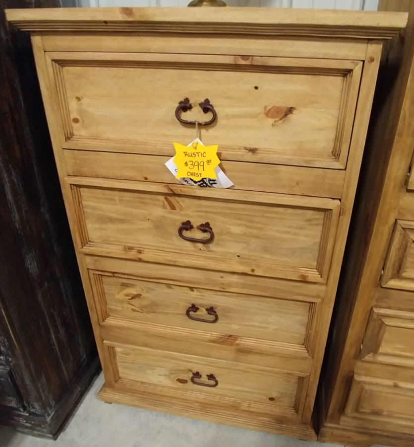 MDR10A149B - Chest Small 4 Drawer Budget Natural Wood