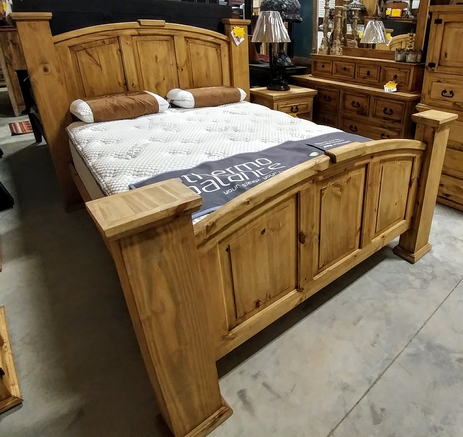 MDR10A269B- Bed Queen Mansion Natural Wood
