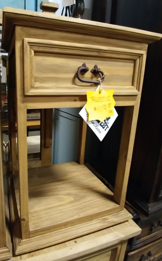 MDR10A49B - Night Stand Tall 1 Drawer Budget Natural Wood