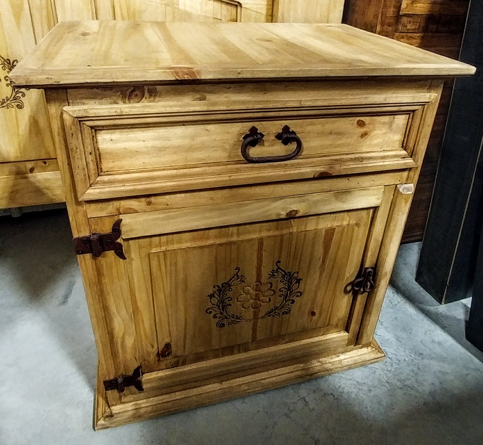 MDR10A50B - Night Stand 1 Drawer 1 Door Natural Wood