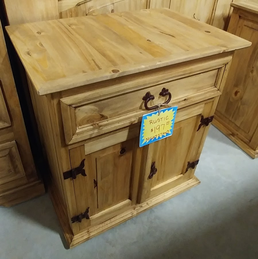 MDR10A87B - Night Stand 1 Drawer 2 Door Natural Wood