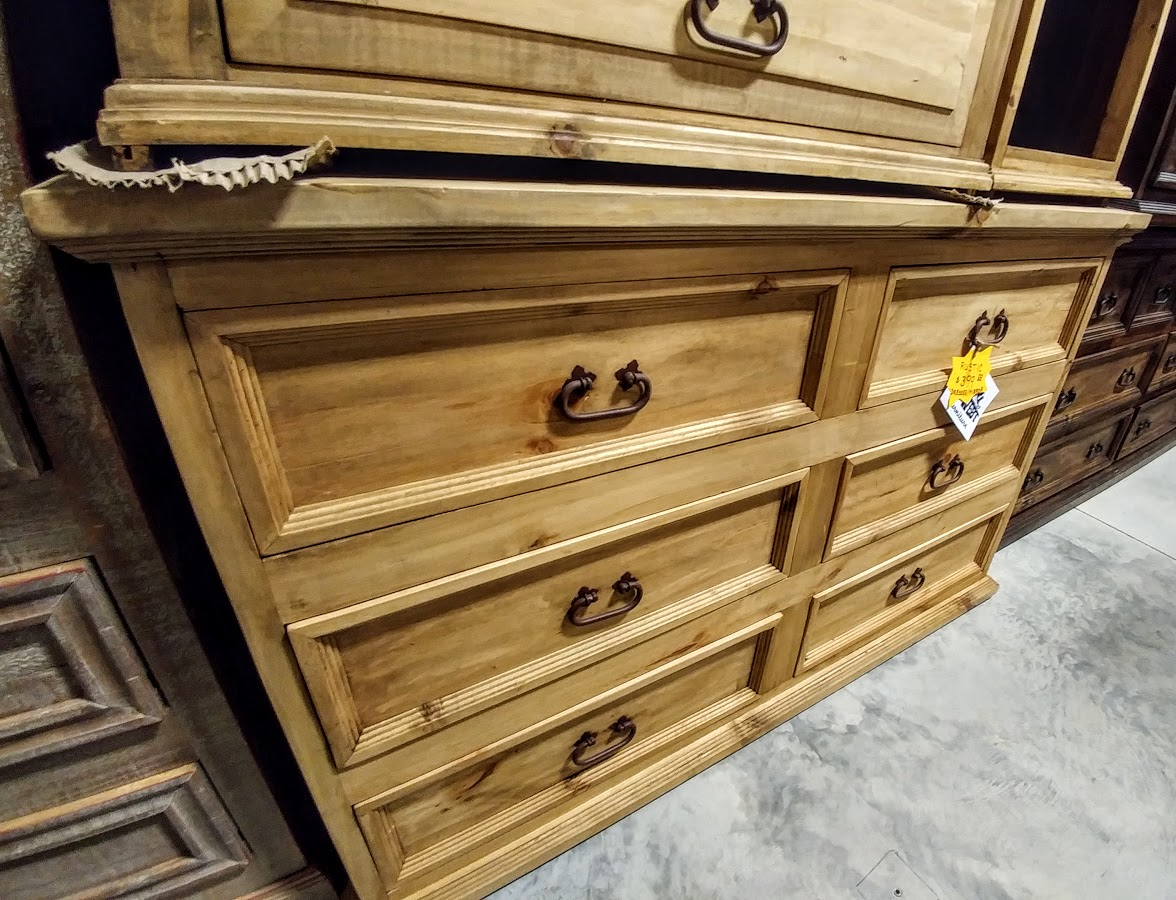 MDR10 - Dresser Small 6 Drawer Budget Natural Wood