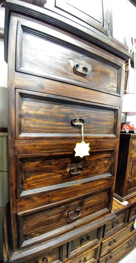 MDR15A149B - Chest 4 Small Budget Dark Wood