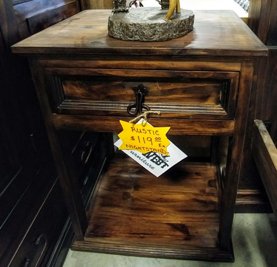 MDR15A49B - Night Stand Tall 1 Drawer Dark Wood