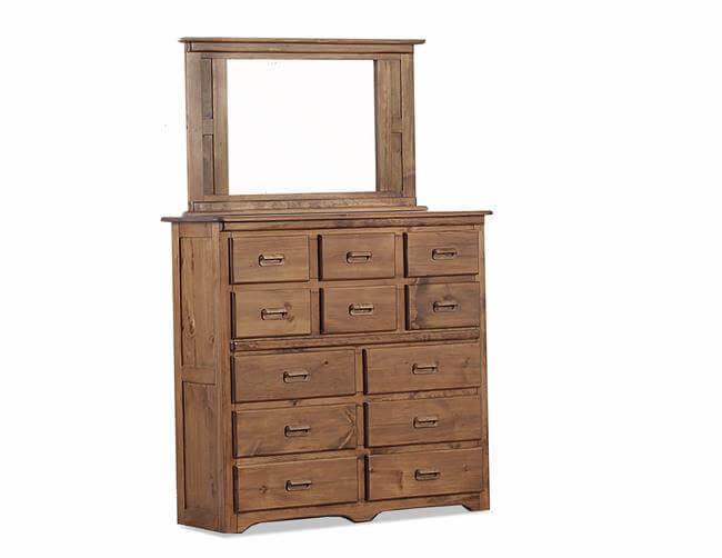 NH 12 DR Dresser With SMALL Mirror KNOTTY PINE IN GO