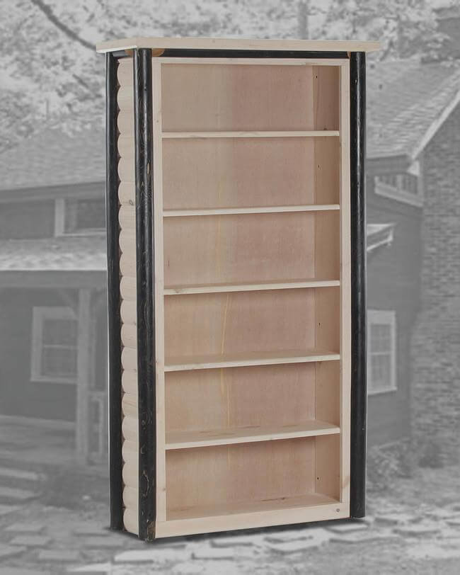 Ranch 6 Bookcase White Wash And Black Wash