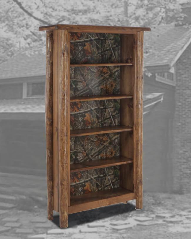 Rustic 6 Bookcase Camo Back