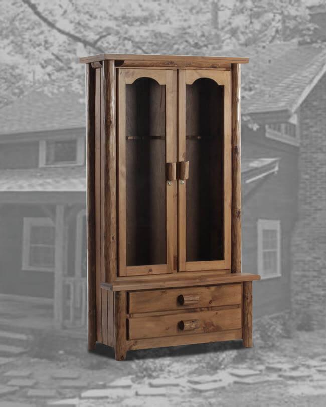 Rustic 8 Gun Cabinet Rustic In Goldern Oak