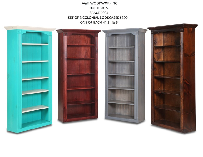 TOS Colonial Bookcases