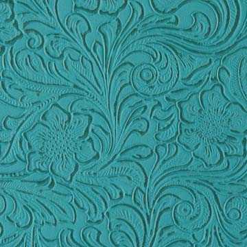 Laredo Turquoise Hand Tooled Leather