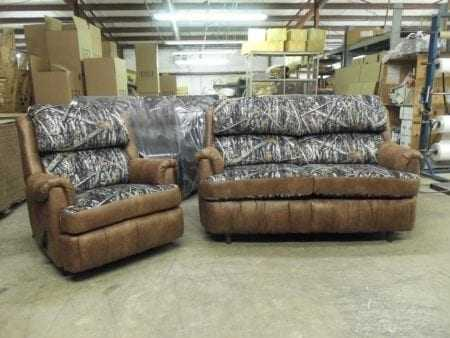 #4287 & #4020 Stationary Loveseat Palance Chestnut/New Conceal