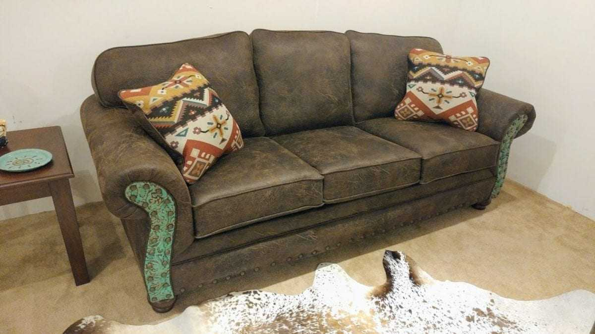 Stationary Living Rooms 1 Rustic Western Style Sofa Love Seat Sectionals